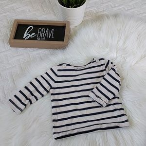 Baby Gap navy Blue and ivory striped top